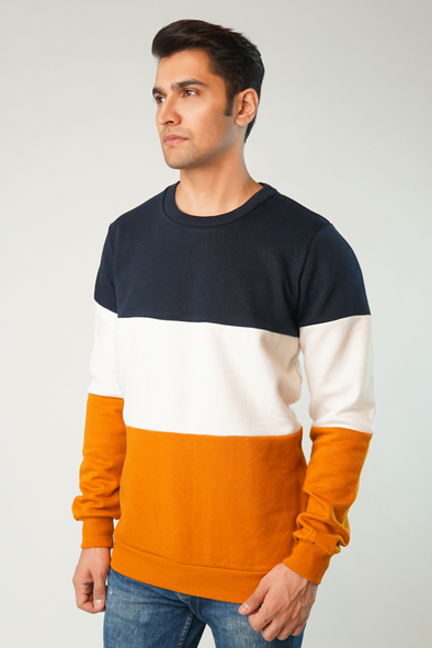 Spatter Color Block Sweatshirt
