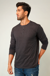 Smoky Full Sleeve Henley T-Shirt