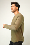 Croco Full Sleeve Henley T-Shirt
