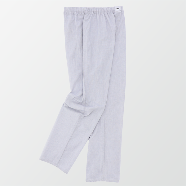 Woven Pajama Pants – Blue and White Small Square Check