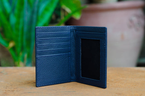 Black Leather Slim Wallet and Card Holder