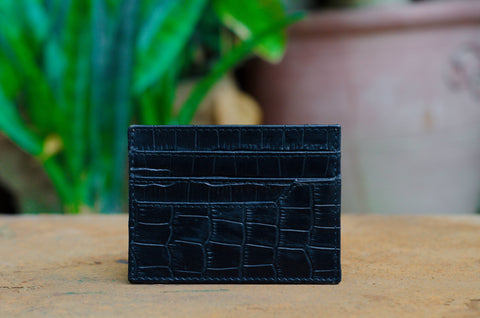Black Leather Slim Card Holder