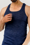 Albescent Tank Top - Textured Blue
