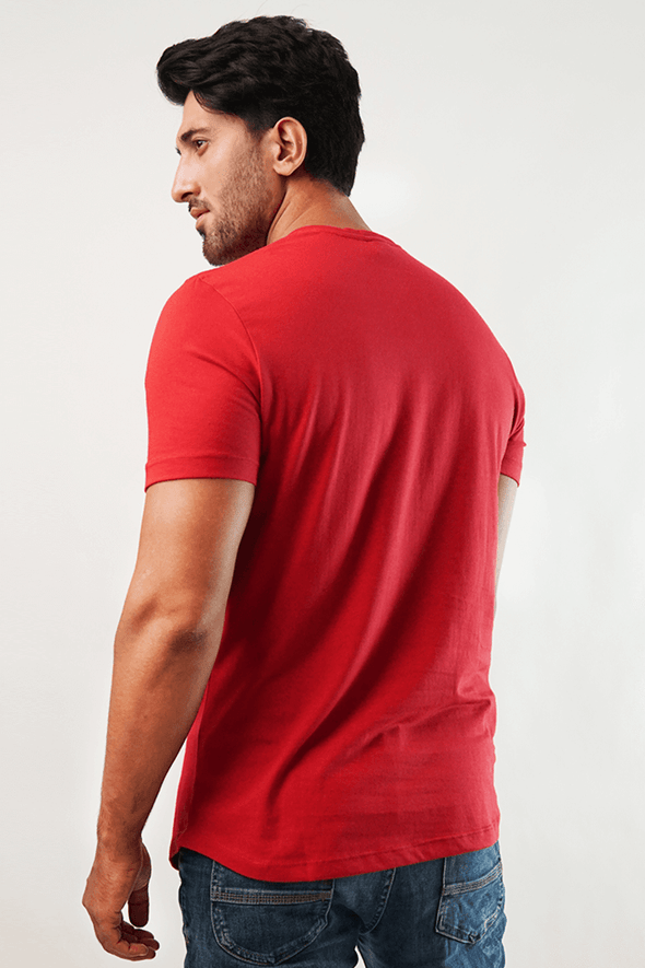 Crimson Short Sleeve Henley T-Shirt - MENDEEZ (4793746423917)