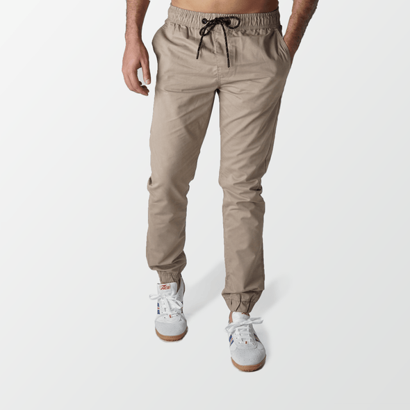 Khaki Jogger Pants Slim fit - MENDEEZ
