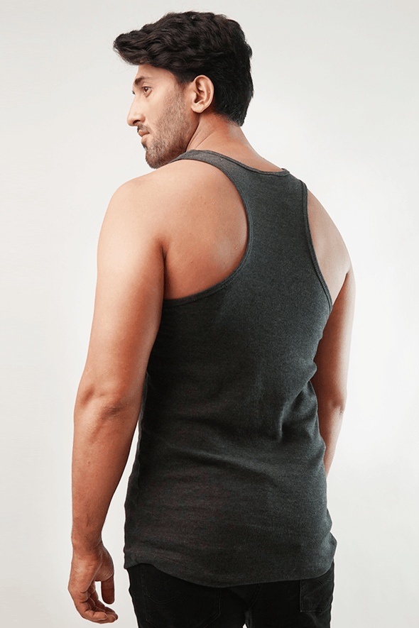 Mink Tank Top - Charcoal - MENDEEZ