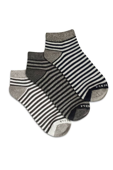 Zebra Ankle Socks - Pack of 3