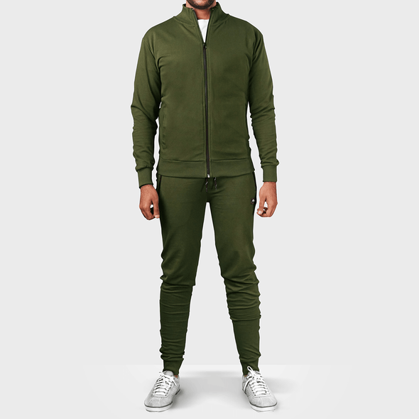 Olive Green Tracksuit - MENDEEZ