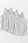 Pack 3 of Men Vest - White - MENDEEZ (1368137891949)