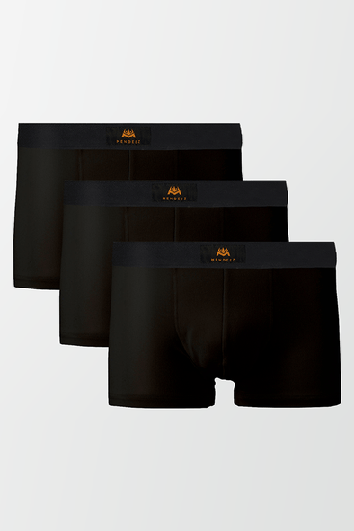 Pack of 3 Boxers Trunks - Black - MENDEEZ (4485579604077)