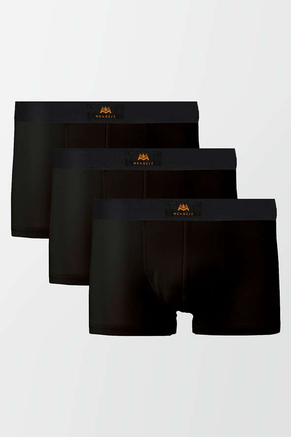 Pack of 3 Boxers Trunks - Black - MENDEEZ