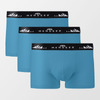 Pack of 3 Boxers Trunks - Blue - MENDEEZ
