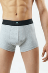 Pack of 3 Boxers Trunks - Heather Grey - MENDEEZ (4758885630061)