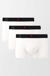 Pack of 3 Boxers Trunks - White - MENDEEZ