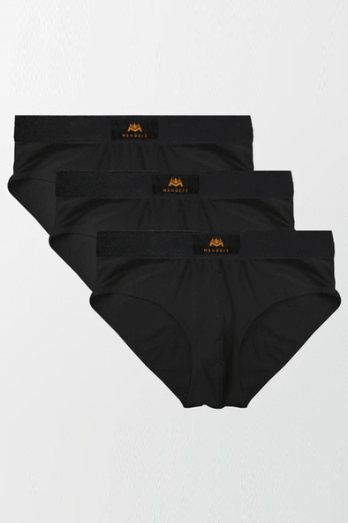 Pack of 3 Briefs - Black - MENDEEZ (4524035735661)