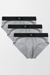 Pack of 3 Briefs - Heather Grey - MENDEEZ (4759859232877)