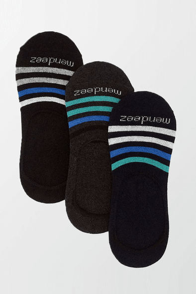 Pack of 3 - No Show Socks - 3 Colors - MENDEEZ (4397404389485)