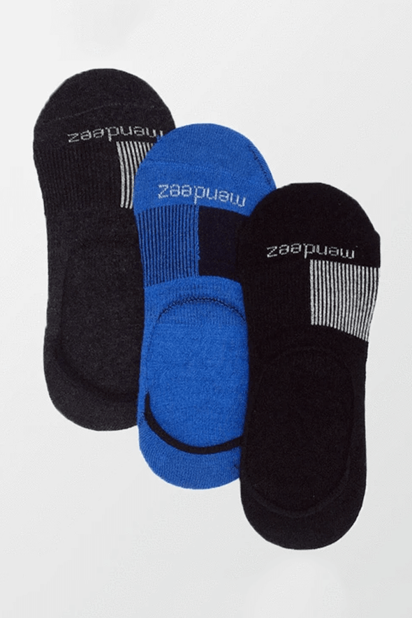 Pack of 3 - No Show Socks - 3 Colors - MENDEEZ (4397410615405)