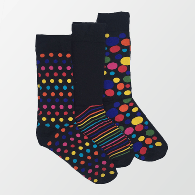 Pack of 3 – Printed Crew Socks - MENDEEZ