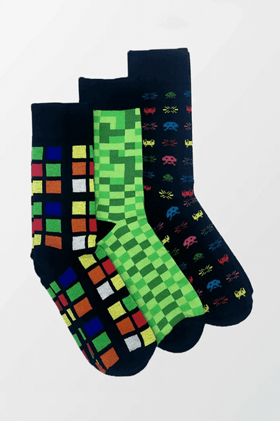 Pack of 3 – Printed Crew Socks - MENDEEZ (4397340164205)