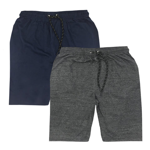 Pack of 2 Shorts - Blue & Charcoal