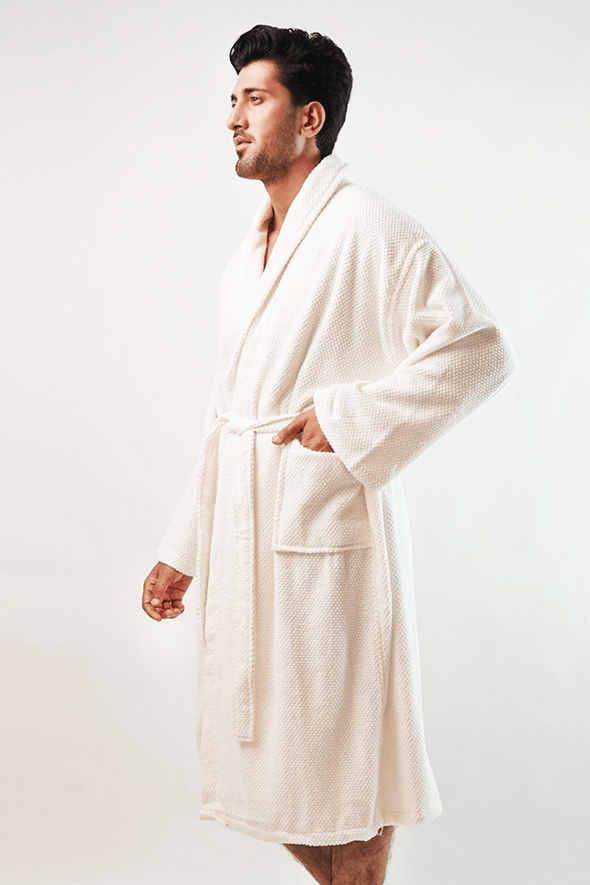 Prom Bathrobe - Ivory - MENDEEZ (4789725954157)