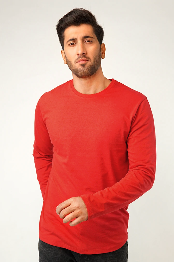 Red Full Sleeve T-Shirt