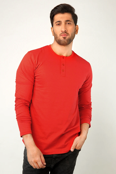 Red Army Full Sleeve Henley T-Shirt