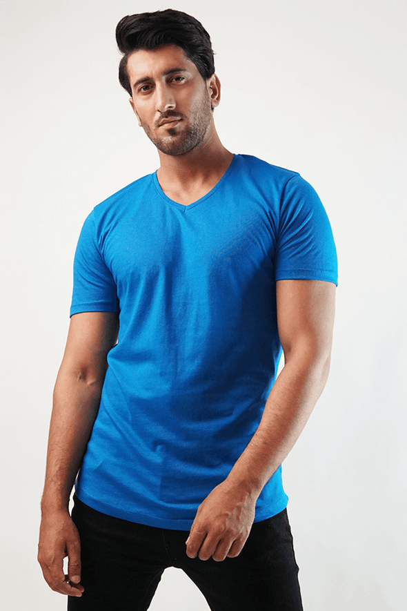 Royal V-Neck Shirt - Royal Blue (4789189214317)