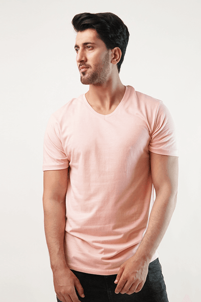 Xylo V-Neck Shirt - Pink (4789184168045)
