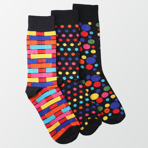Pack of 3 - Crew Socks - Printed
