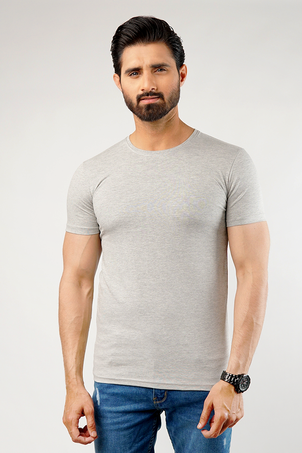 Undershirt Cotton Stretch - Pack Of 2 (Heather Grey)