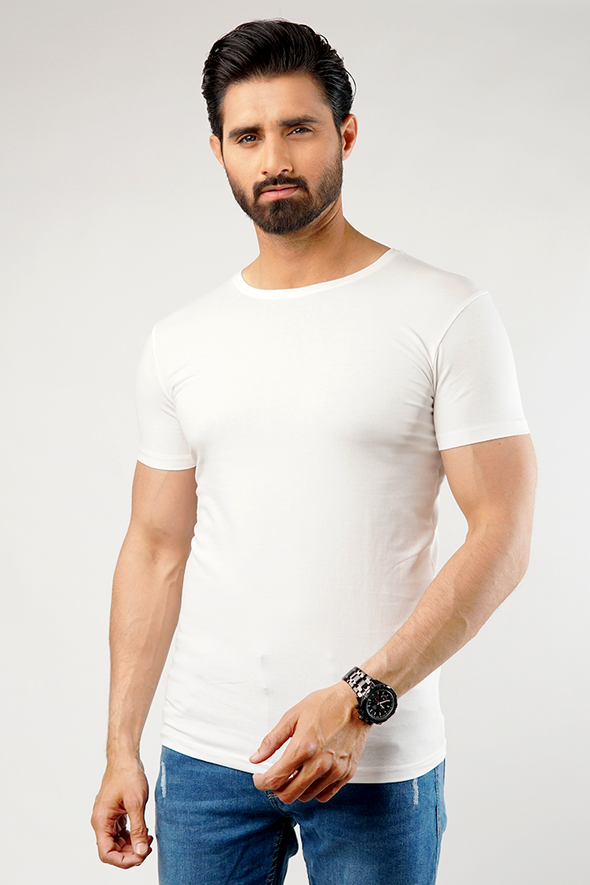 Undershirt Cotton Stretch - Pack Of 2 (White)