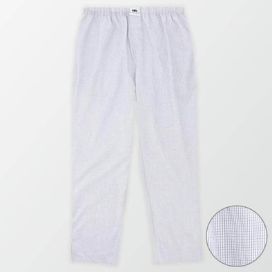 Woven Pajama Pants – Blue and White Small Square Check - MENDEEZ