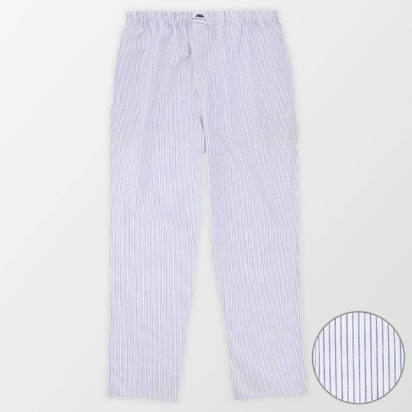 Woven Pajama Pants – Grey and White - MENDEEZ