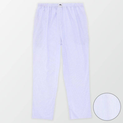 Woven Pajama Pants – White and Blue - MENDEEZ