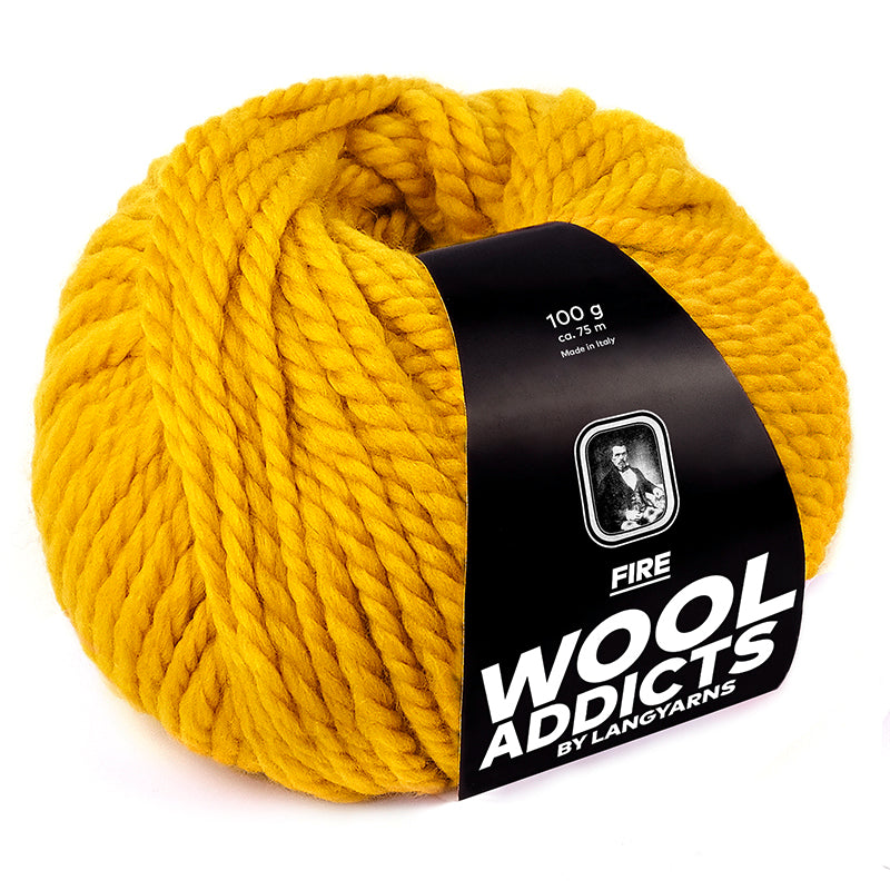 Wool Addicts Fire by Lang Yarns - made in Italy with 98% Virgin Merino Wool