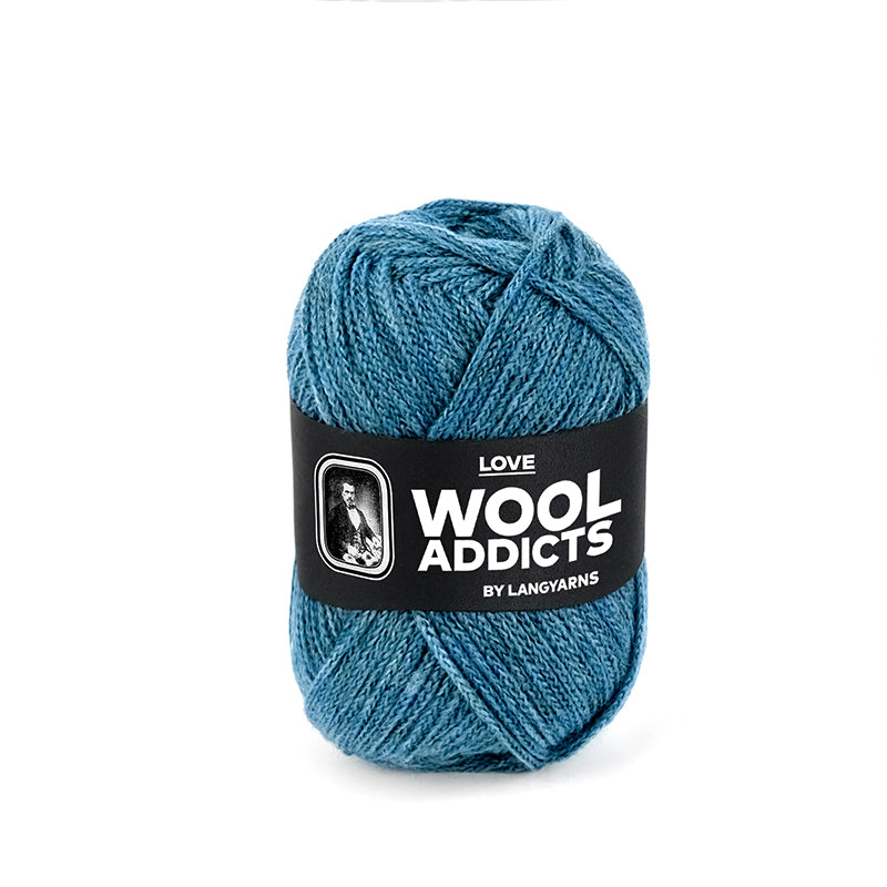 Wool Addicts Love by Lang Yarns - made in Italy with 92% Virgin Wool, Nylon blend