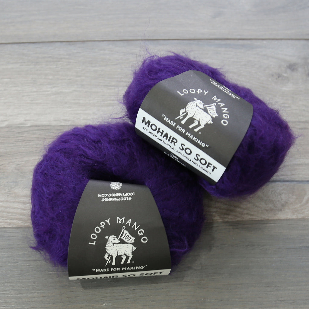 Loopy Mango Mohair So Soft chunky Italian Wool with Super Kid Mohair, Extra Fine Merino wool blend