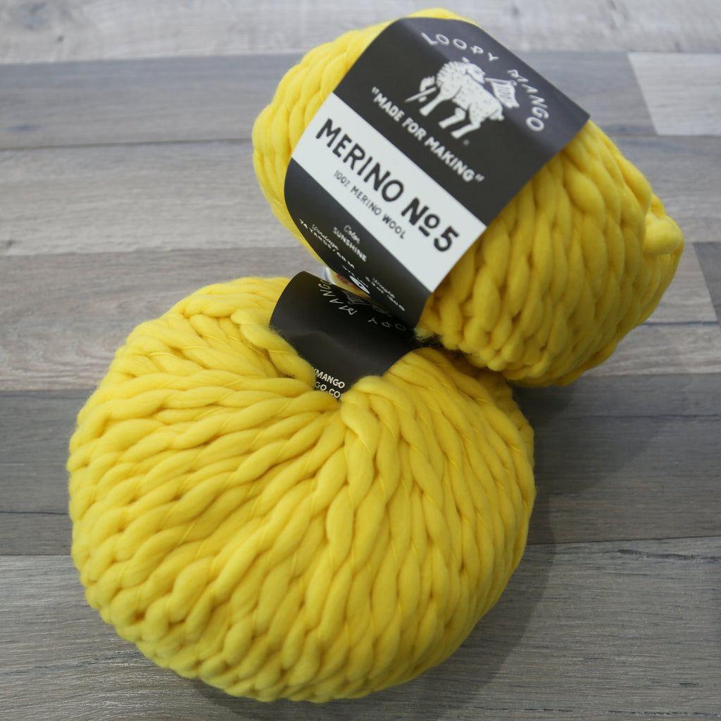 Loopy Mango Merino No. 5 100% Merino Fingering Wool made in Italy
