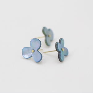 Blue Oyster Shell Flower Push Pins
