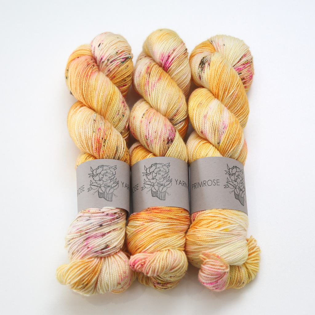 Primrose Yarn Co. Ultimate Sock Superwash yarn made with Merino Nylon wool blend in USA