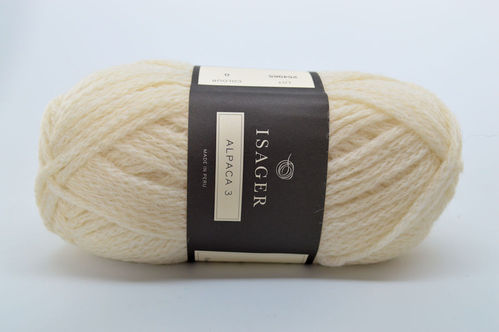 Isager Alpaca 3 Bulky white Yarn