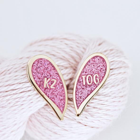 Besties K2TOG Pin Set
