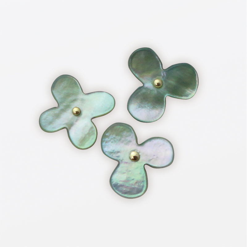 Flower Push Pins of Oyster Shell by Cohana