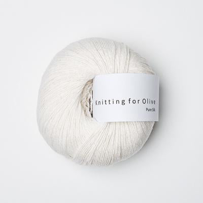Knitting For Olive - Pure Silk white yarn