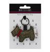 Harris Tweed Dog Keyring