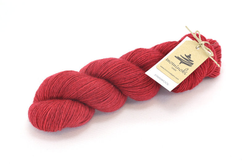 Mominoki Yarn Finnwool 100% Virgin Wool Fingering red yarn in Toronto