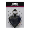 Harris Tweed Heart Keyring