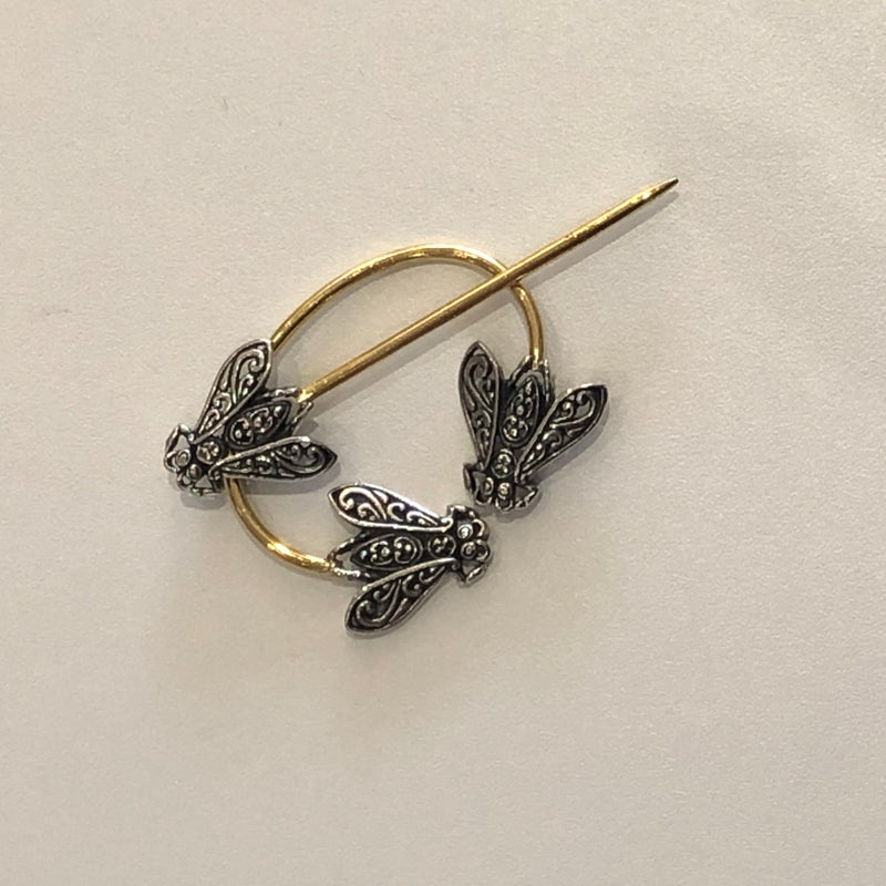 Filigree Honeybee Penannular Brooch by JŪL Designs